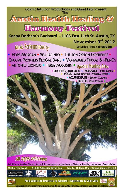 Austin Health Healing & Harmony Festival Poster